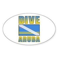 Scuba Dive Aruba Oval Decal
