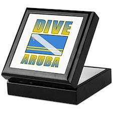 Scuba Dive Aruba Keepsake Box