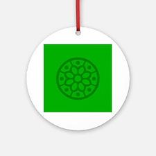 Green Snowflake Ornament (Round)