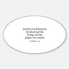 NUMBERS 16:48 Oval Decal