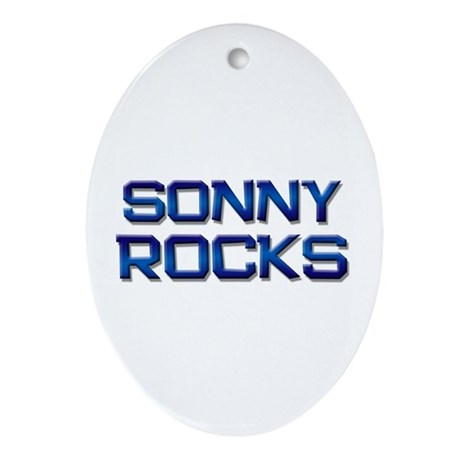 sonny rocks Oval Ornament