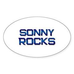 sonny rocks Oval Decal