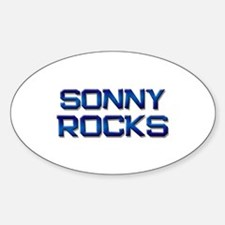 sonny rocks Oval Decal