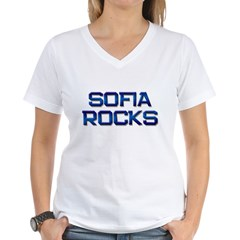 sofia rocks Women's V-Neck T-Shirt