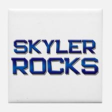 skyler rocks Tile Coaster