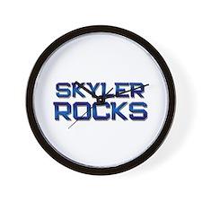 skyler rocks Wall Clock