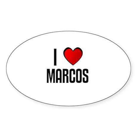 I LOVE MARCOS Oval Sticker