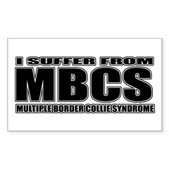 Border Collie Sticker (Rectangle 50 pk)