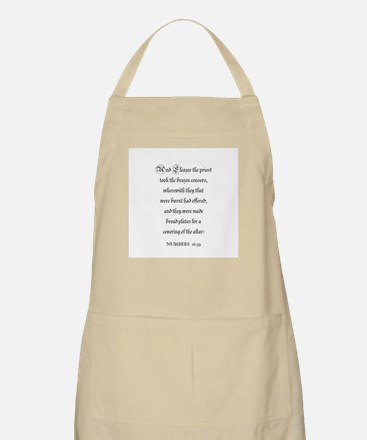 NUMBERS  16:39 BBQ Apron