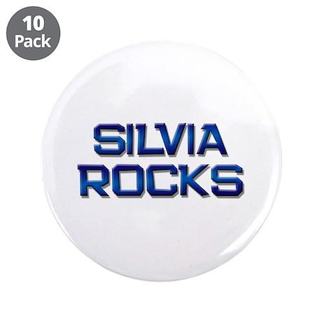 "silvia rocks 3.5"" Button (10 pack)"