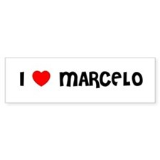 I LOVE MARCELO Bumper Car Sticker