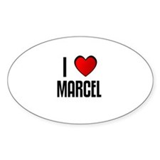 I LOVE MARCEL Oval Decal