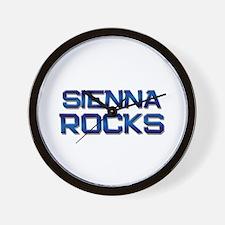 sienna rocks Wall Clock