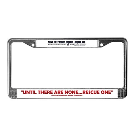 Walk 4 Homeless Paws License Plate Frame