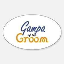 Gampa of the Groom Oval Decal
