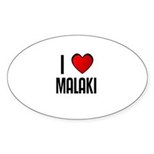 I LOVE MALAKI Oval Decal