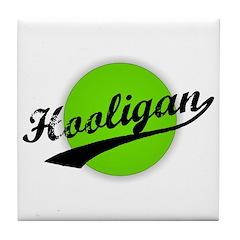 Hooligan (circle-lime) Tile Coaster