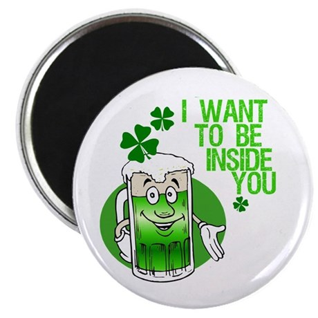 "Green Beer Innuendo 2.25"" Magnet (100 pack)"