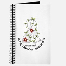Flower Ribbon LUNG CANCER Journal