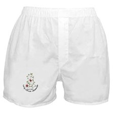 Flower Ribbon LUNG CANCER Boxer Shorts