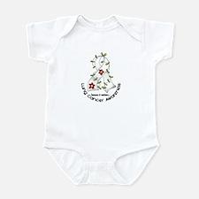 Flower Ribbon LUNG CANCER Infant Bodysuit
