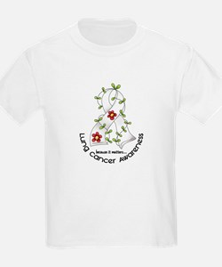 Flower Ribbon LUNG CANCER T-Shirt