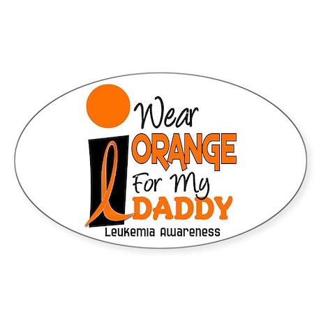 I Wear Orange For My Daddy 9 Oval Sticker