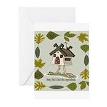 birdhouse Greeting Cards (Pk of 20)