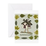 birdhouse Greeting Card