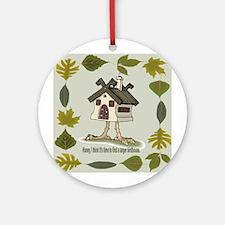 birdhouse Ornament (Round)