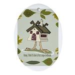 birdhouse Oval Ornament