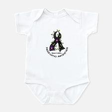 Flower Ribbon MELANOMA Infant Bodysuit