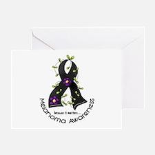 Flower Ribbon MELANOMA Greeting Card