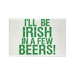 Irish In A Few Beers Rectangle Magnet (100 pack)