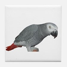 Funny African grey Tile Coaster