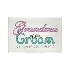 Grandma of the Groom Rectangle Magnet