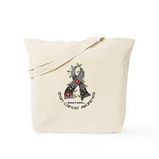 Flower Ribbon BRAIN CANCER Tote Bag