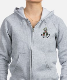 Flower Ribbon BRAIN CANCER Zip Hoody