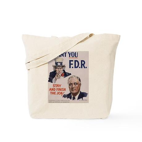 I Want FDR Tote Bag