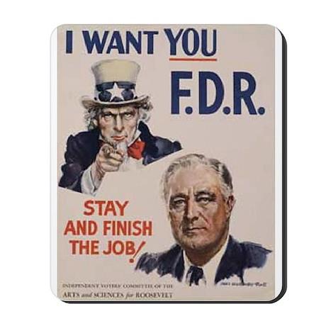 I Want FDR Mousepad