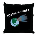 Make A Wish Asteroid Throw Pillow
