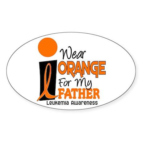 I Wear Orange For My Father 9 Leukemia Sticker (Ov