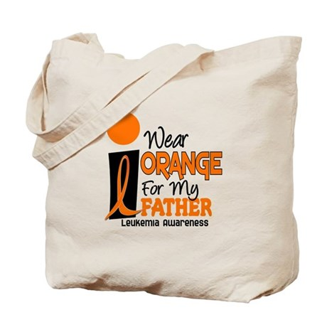 I Wear Orange For My Father 9 Leukemia Tote Bag