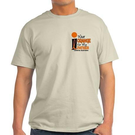 I Wear Orange For My Father 9 Leukemia Light T-Shi