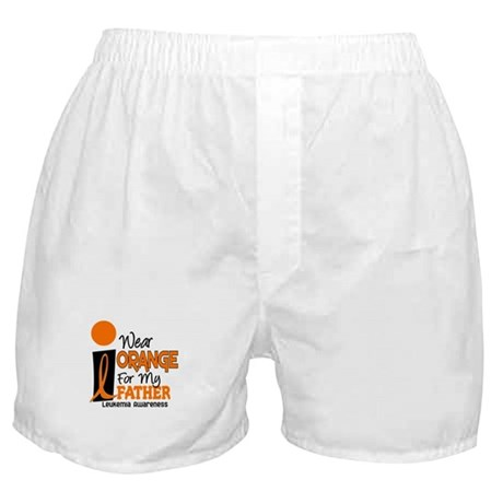 I Wear Orange For My Father 9 Leukemia Boxer Short