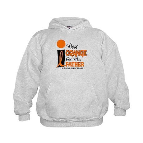 I Wear Orange For My Father 9 Leukemia Kids Hoodie