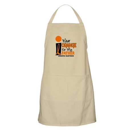 I Wear Orange For My Father 9 Leukemia BBQ Apron