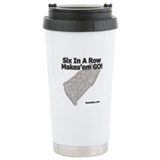 Six In A Row - Makes'em GO! - Thermos Mug