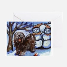 TIBETAN TERRIER 4 seasons Greeting Cards (Package