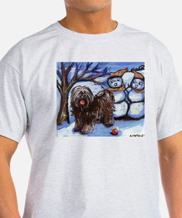 TIBETAN TERRIER 4 seasons Ash Grey T-Shirt